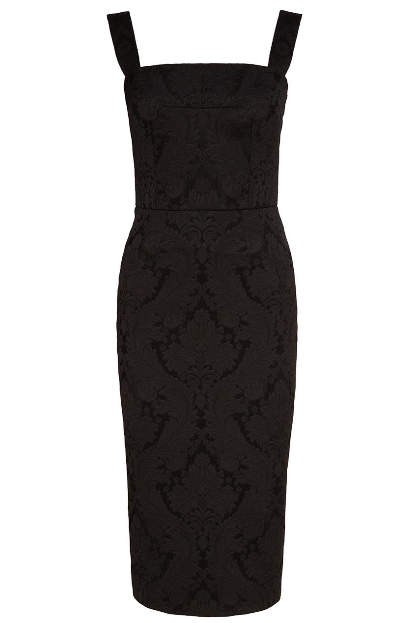 Dolce&Gabbana Черное жаккардовое платье