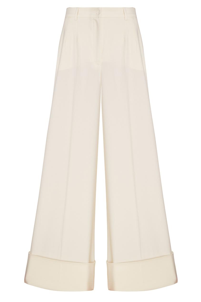 Белые шерстяные брюки