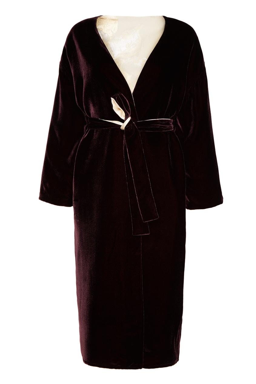 Sophie&Eva Фиолетовый двусторонний халат халаты домашние лори халат