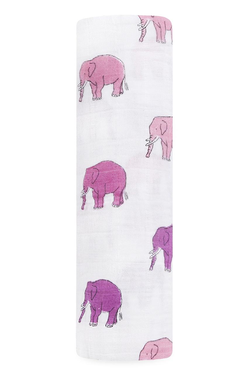 Хлопковая пеленка со слонами