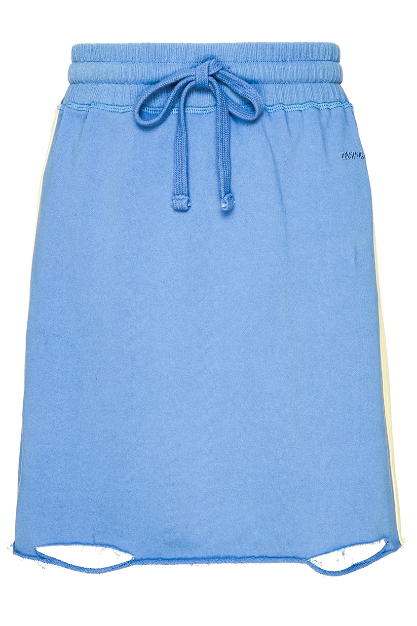 ZASPORT Синяя трикотажная юбка-мини юбка трикотажная