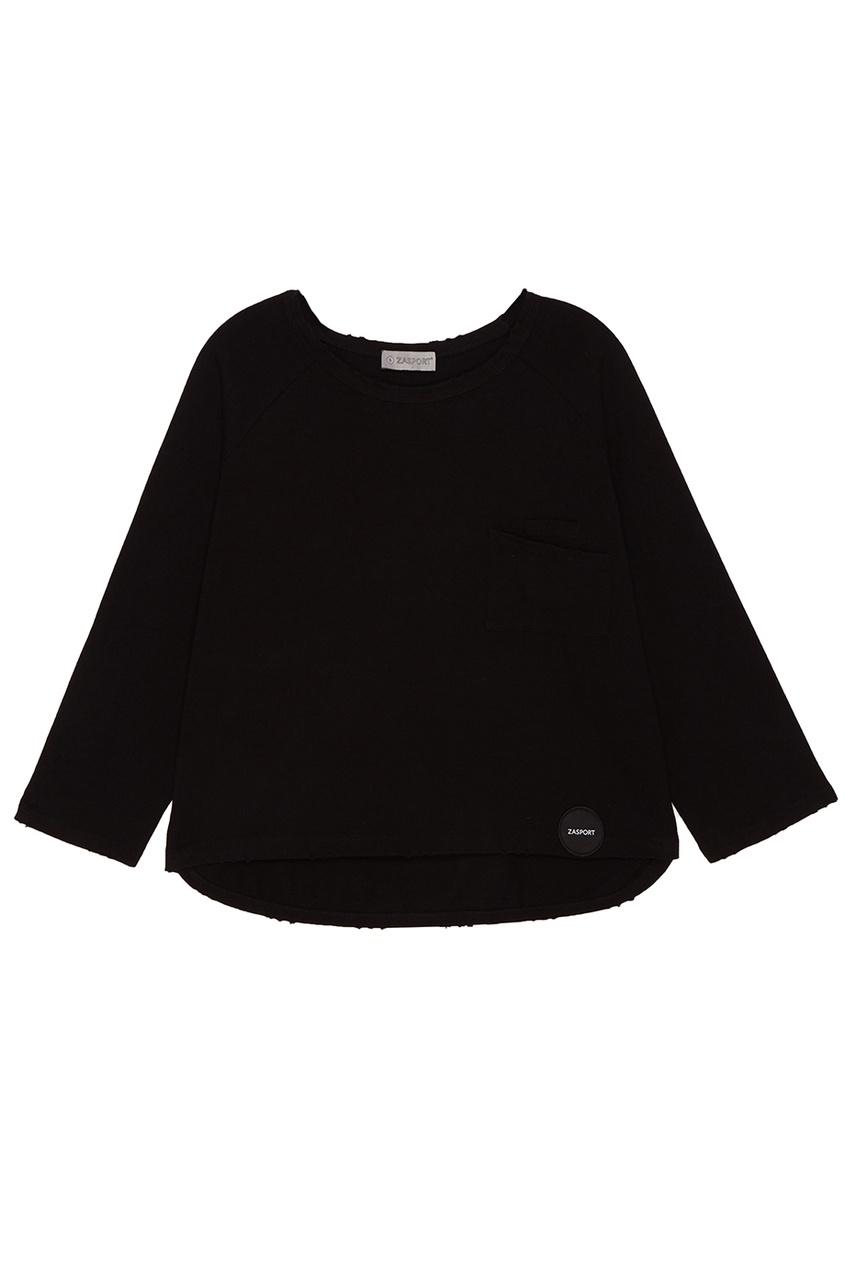 Черный свитшот с потертыми краями