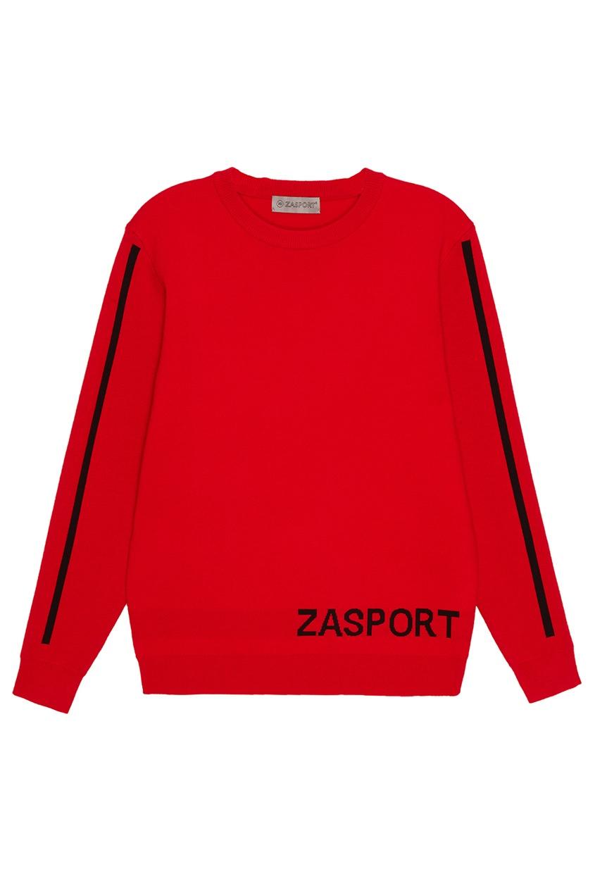 Красный джемпер с логотипом