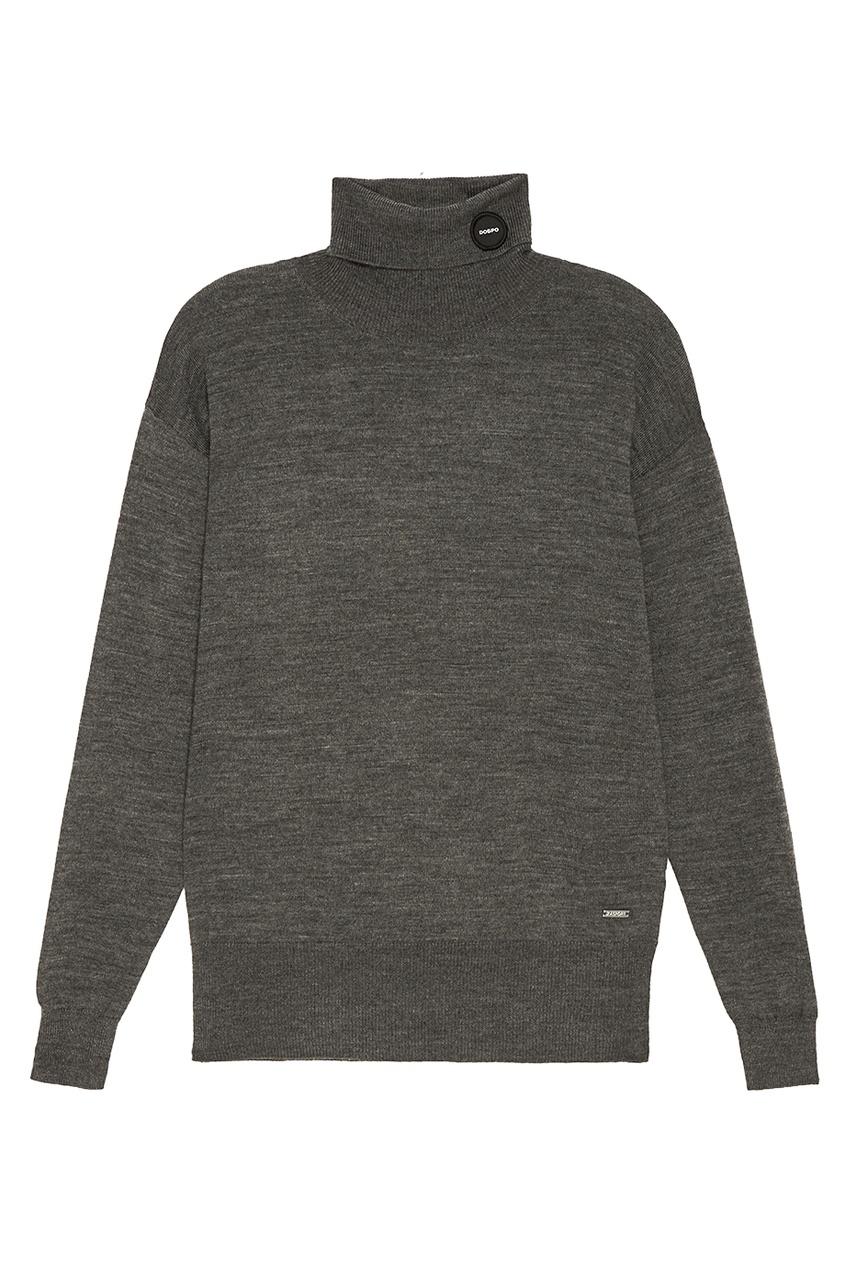 Удлиненный свитер серого цвета