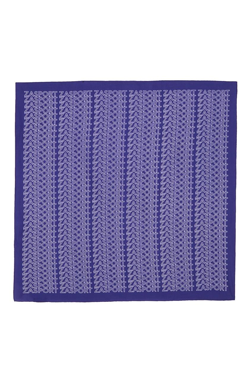 Голубой платок с логотипами