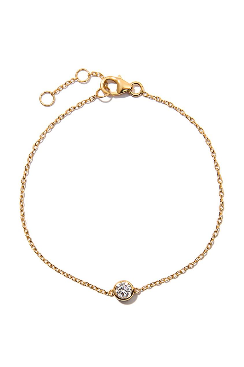 Серебряный браслет с кристаллом