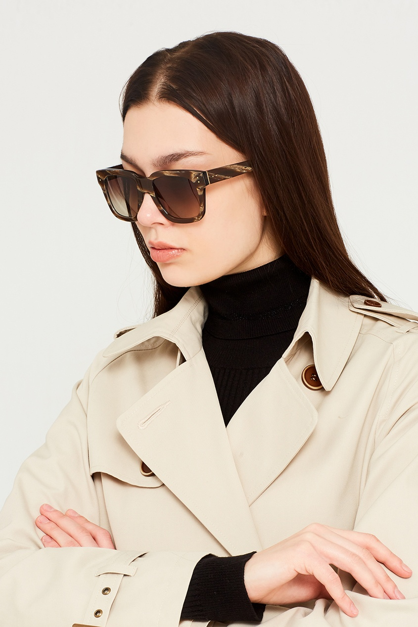 Linda Farrow Коричневые солнцезащитные очки Limited Edition очки корригирующие grand очки готовые 3 5 g1367 c4