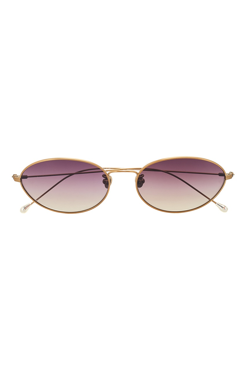 Linda Farrow Золотистые очки Linda Farrow x Ann Demeulemeester linda farrow черепаховые солнцезащитные очки linda farrow x phillip lim