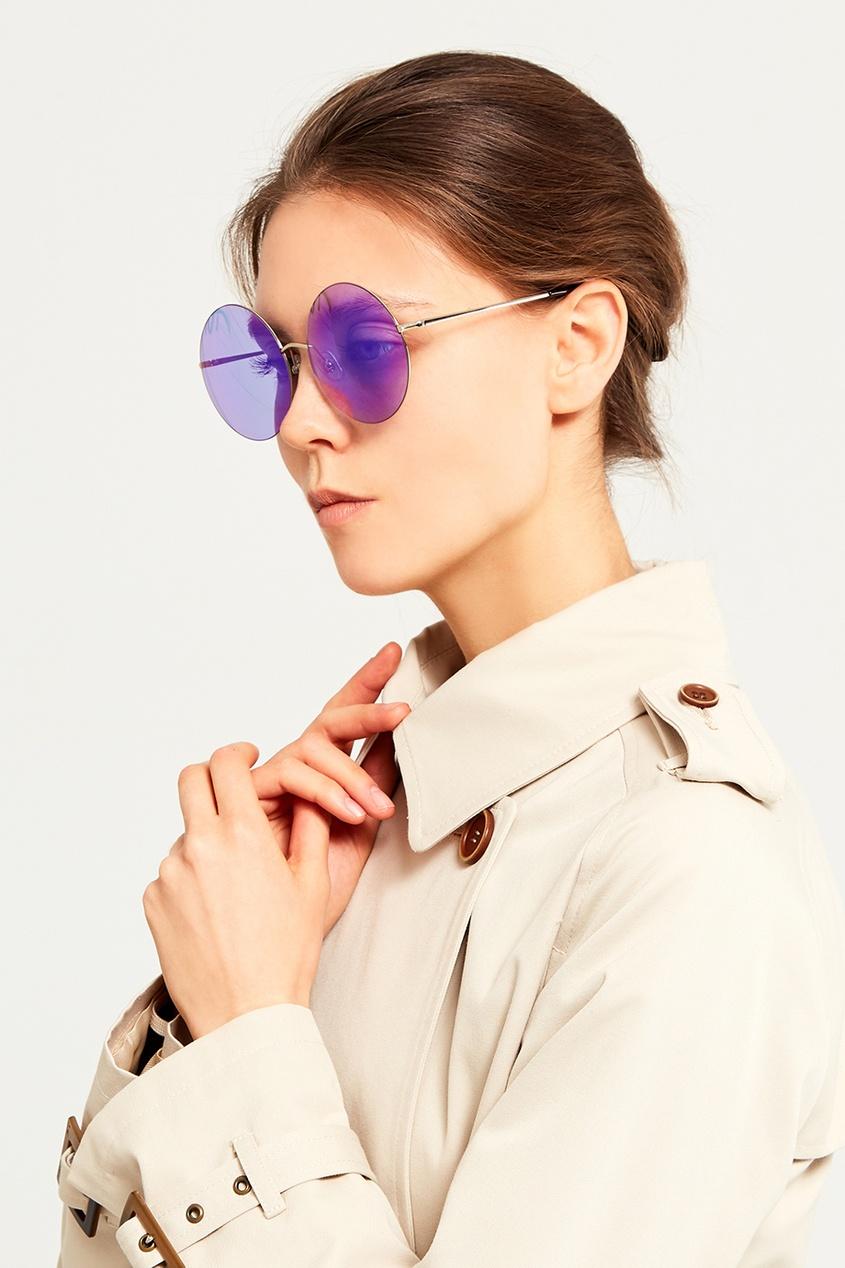 Голубые солнцезащитные очки Linda Farrow x Mathew Williamson