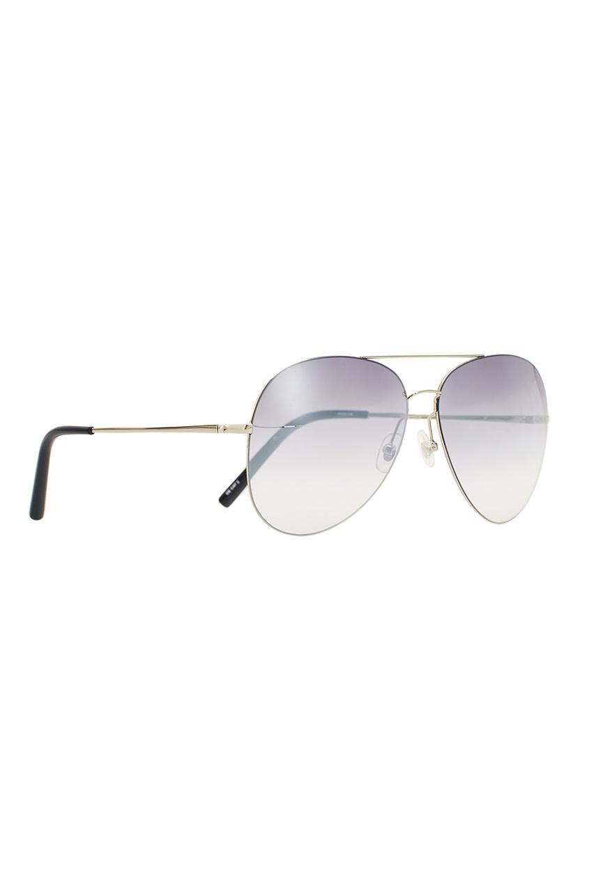 Серебристые солнцезащитные очки Linda Farrow x Mathew Williamson