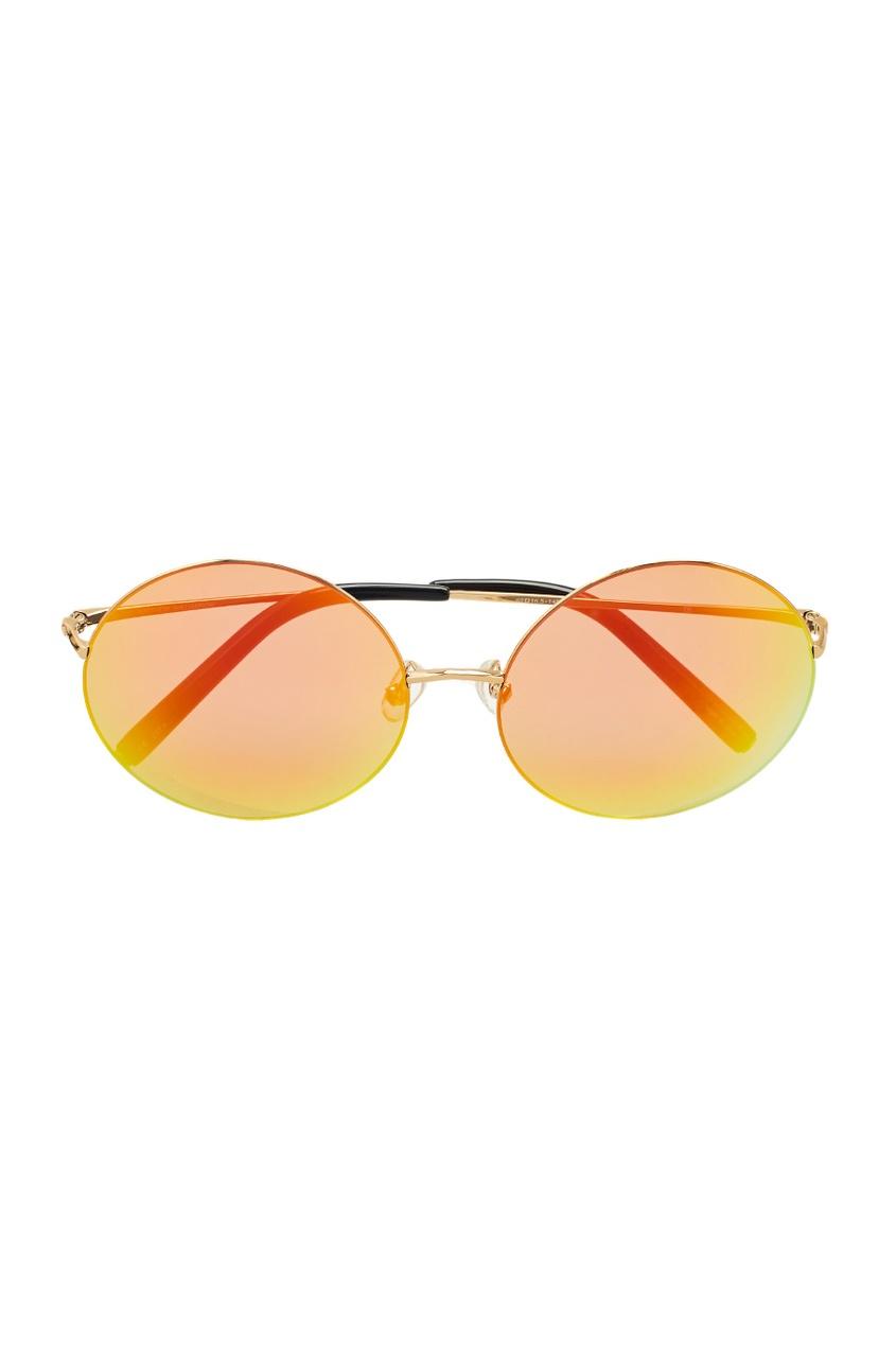 Linda Farrow Оранжевые солнцезащитные очки Linda Farrow x Mathew Williamson linda farrow черепаховые солнцезащитные очки linda farrow x phillip lim