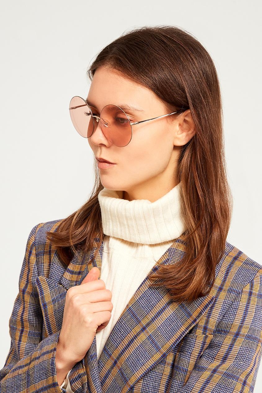 Розовые солнцезащитные очки Linda Farrow x Mathew Williamson