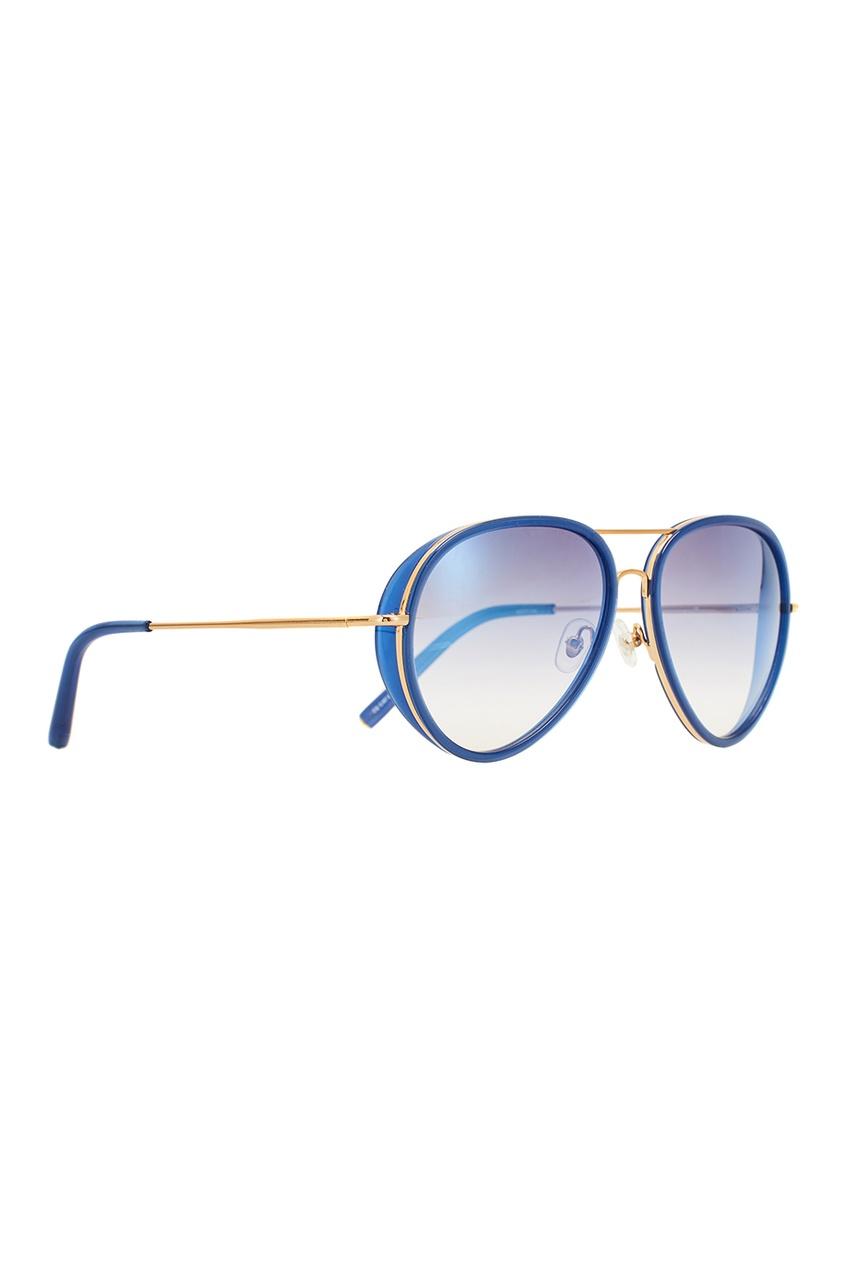 Синие солнцезащитные очки Linda Farrow x Mathew Williamson