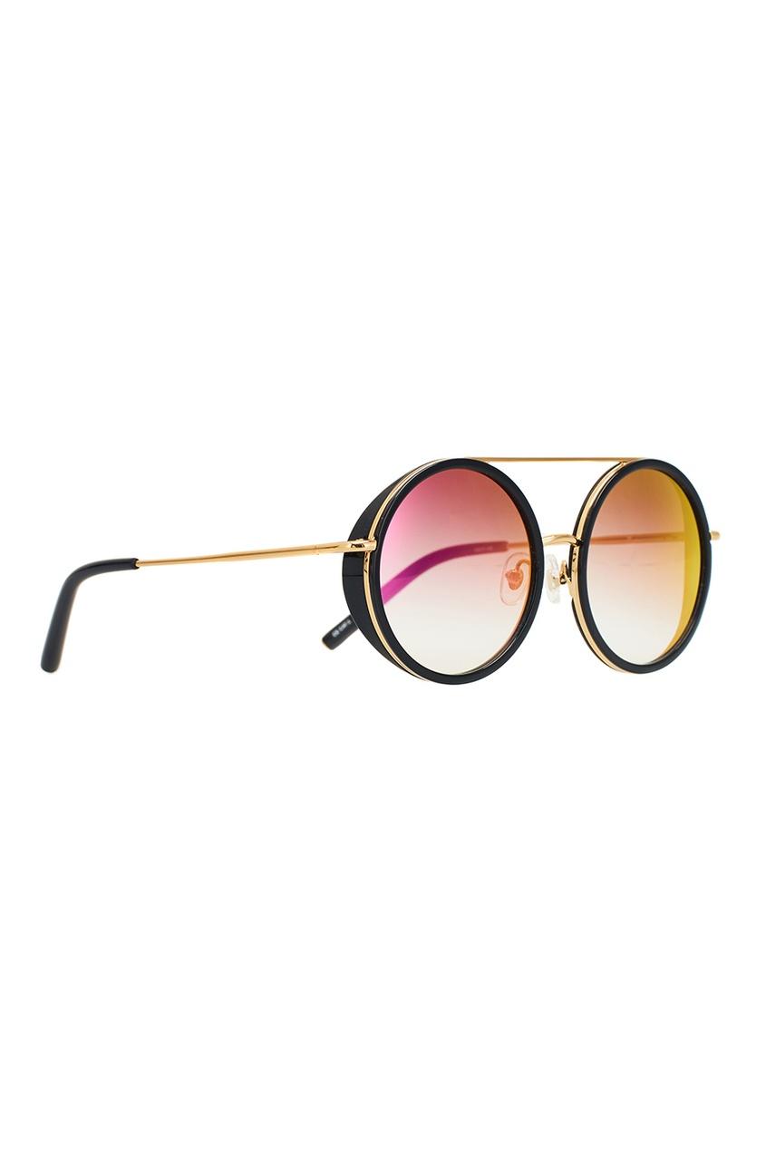 Круглые солнцезащитные очки Linda Farrow x Mathew Williamson