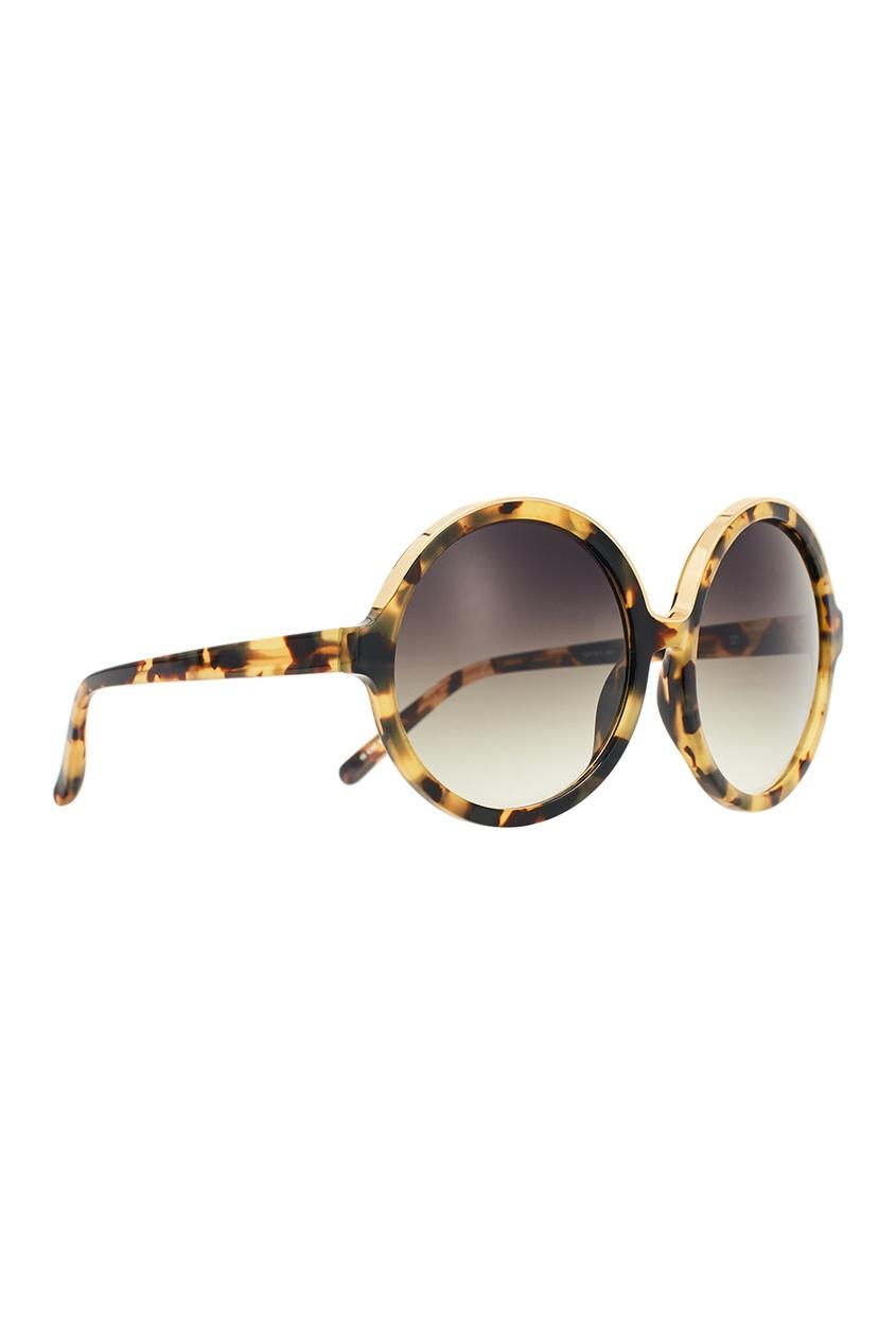 Черепаховые солнцезащитные очки Linda Farrow x No.21