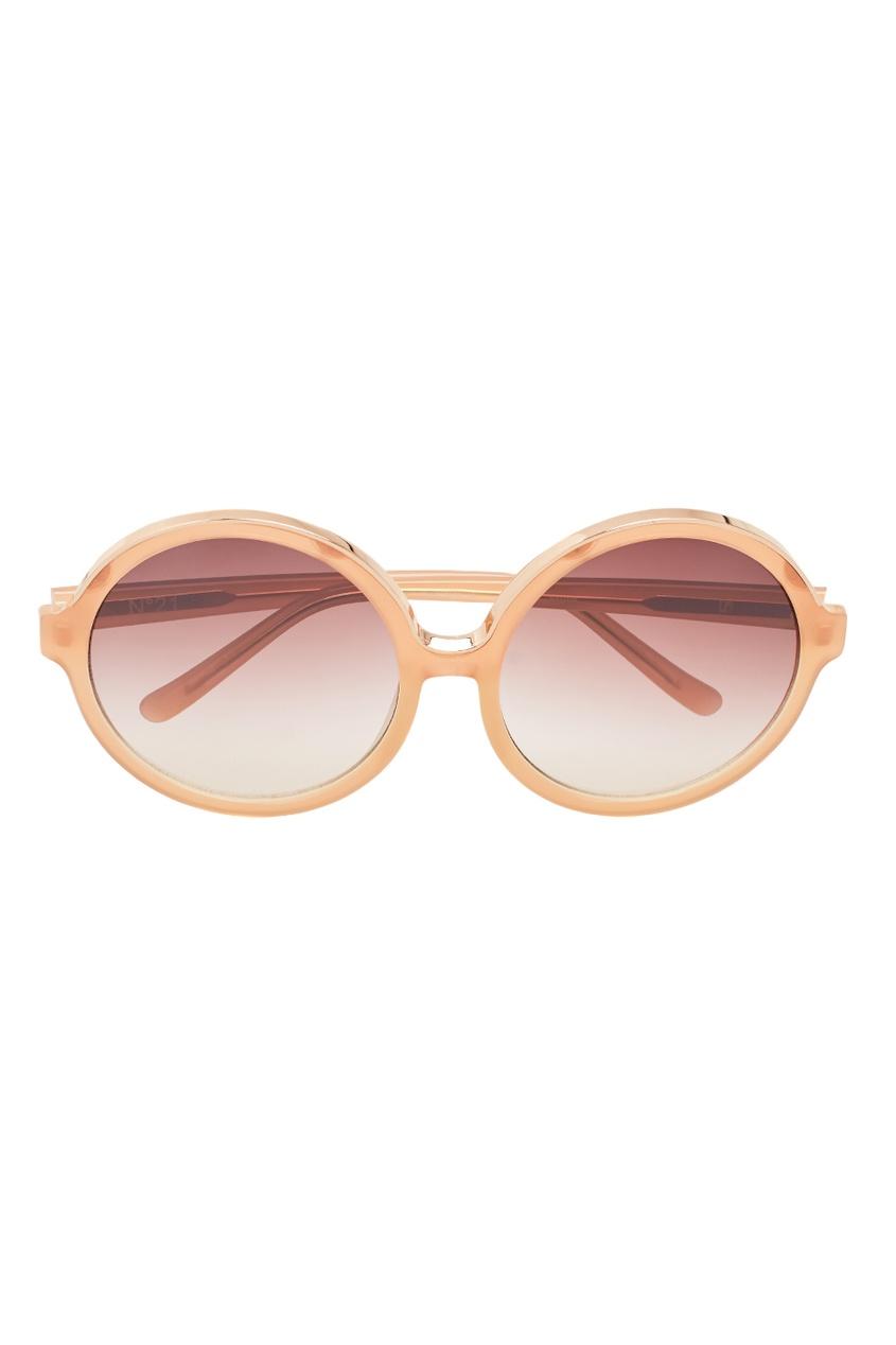 Linda Farrow Розовые солнцезащитные очки Linda Farrow x No.21 linda farrow солнцезащитные очки linda farrow х no 21