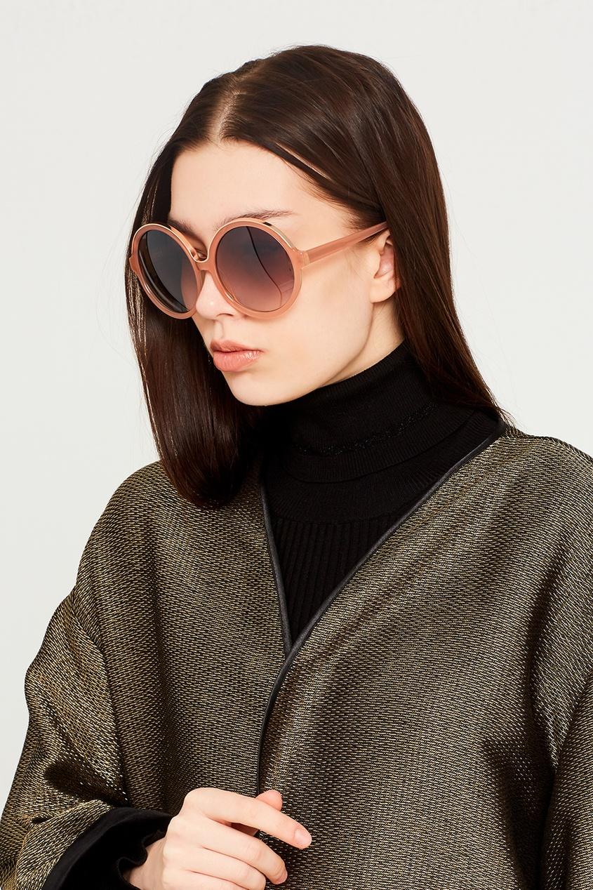 Розовые солнцезащитные очки Linda Farrow x No.21