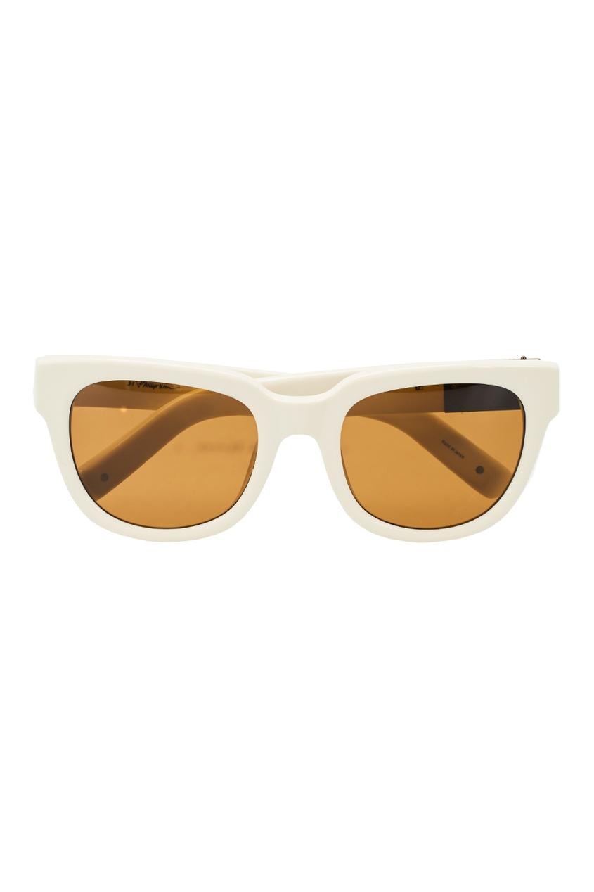 Linda Farrow Белые солнцезащитные очки Linda Farrow x Phillip Lim linda farrow черепаховые солнцезащитные очки linda farrow x phillip lim