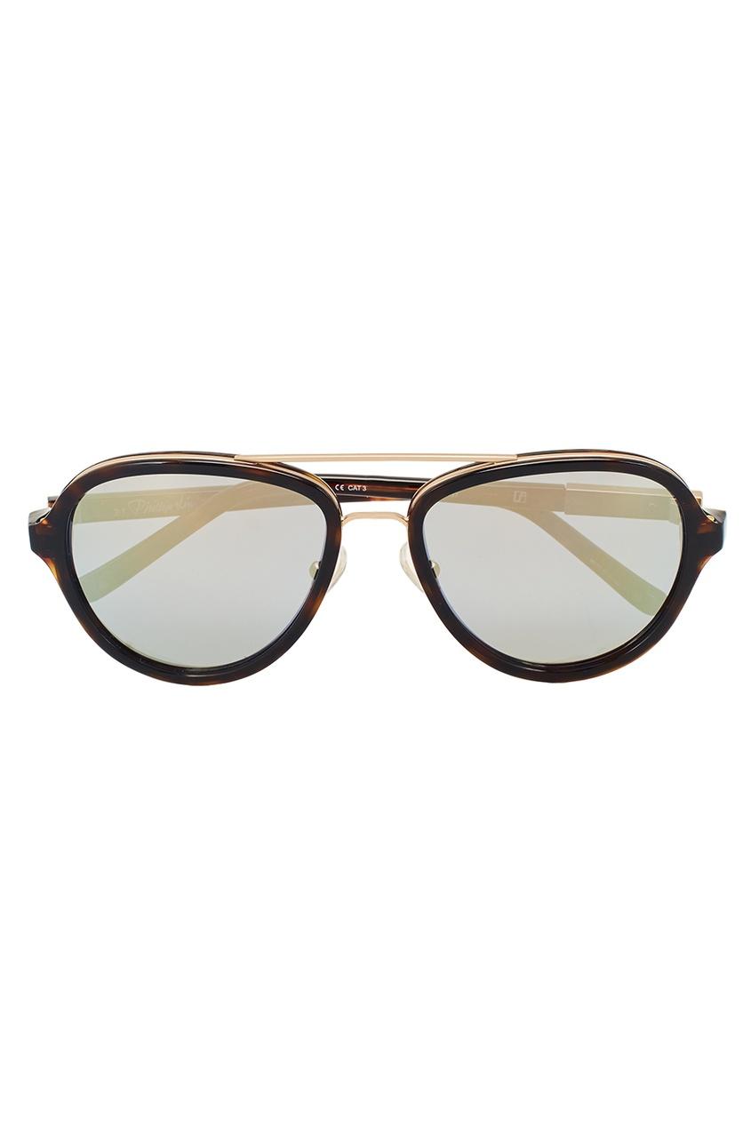 Linda Farrow Черепаховые солнцезащитные очки Linda Farrow x Phillip Lim linda farrow солнцезащитные очки linda farrow х no 21