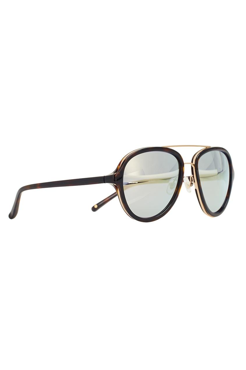 Черепаховые солнцезащитные очки Linda Farrow x Phillip Lim