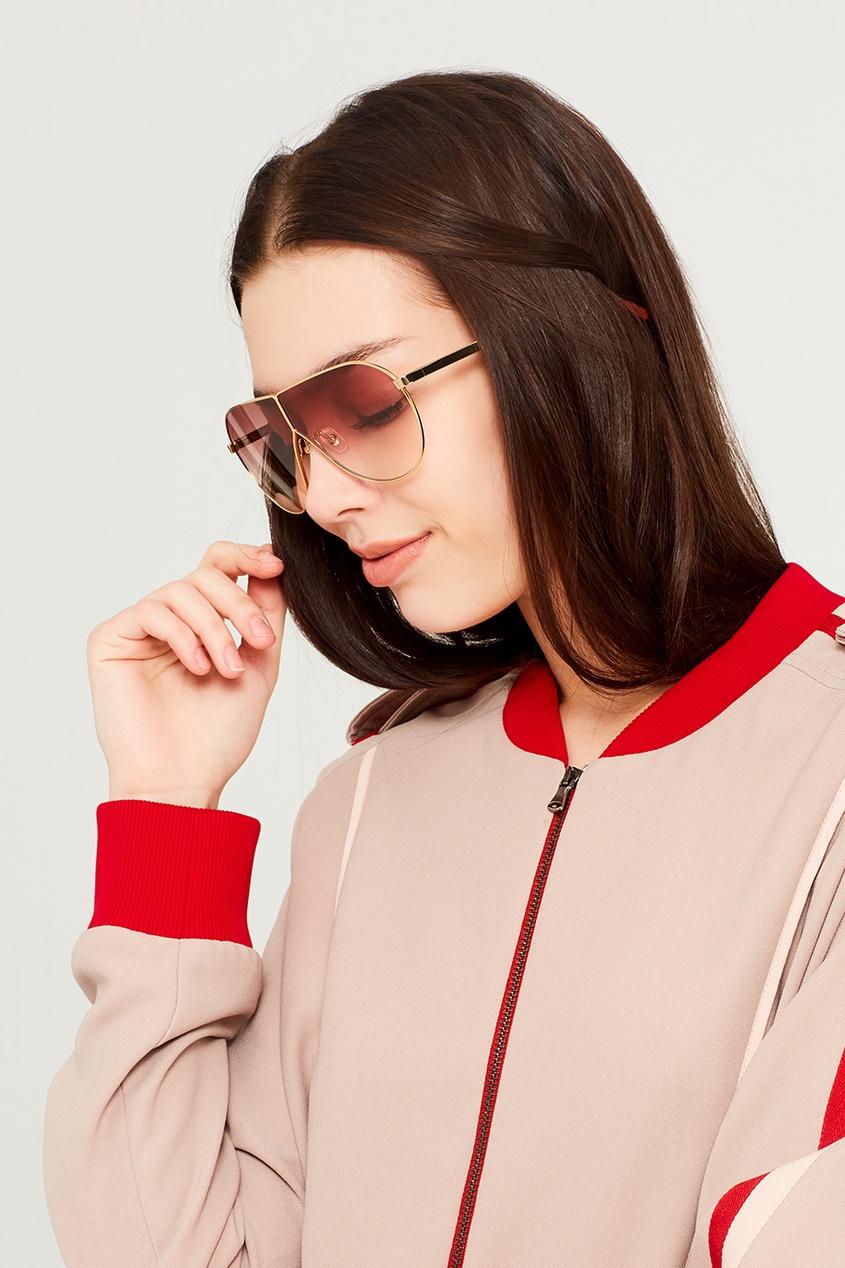 Розовые солнцезащитные очки Linda Farrow x Phillip Lim