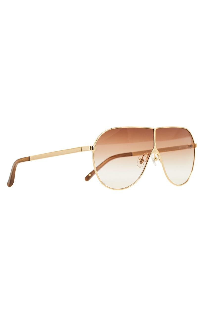 Золотистые солнцезащитные очки Linda Farrow x Phillip Lim