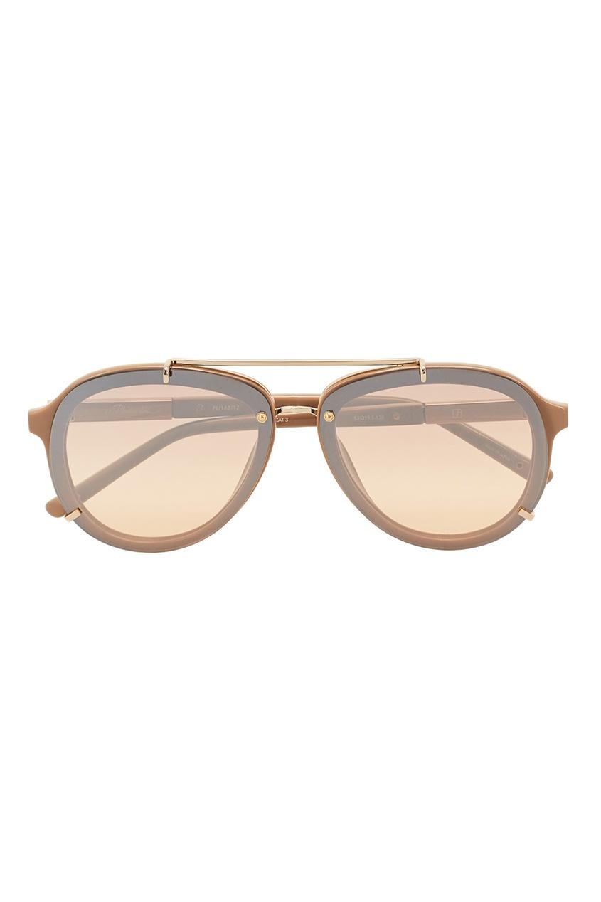 Linda Farrow Зеркальные солнцезащитные очки Linda Farrow x Phillip Lim linda farrow черепаховые солнцезащитные очки linda farrow x phillip lim