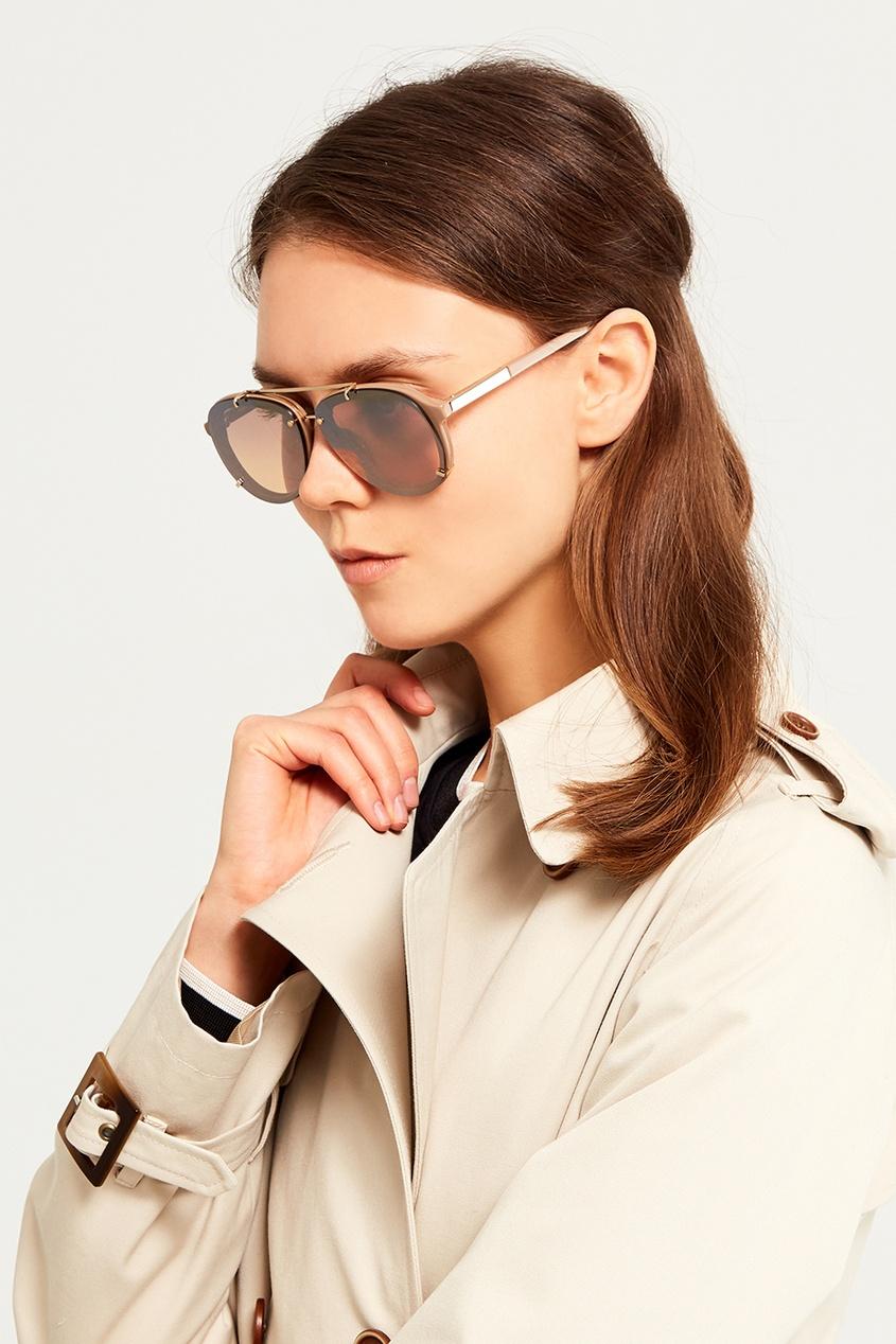 Зеркальные солнцезащитные очки Linda Farrow x Phillip Lim