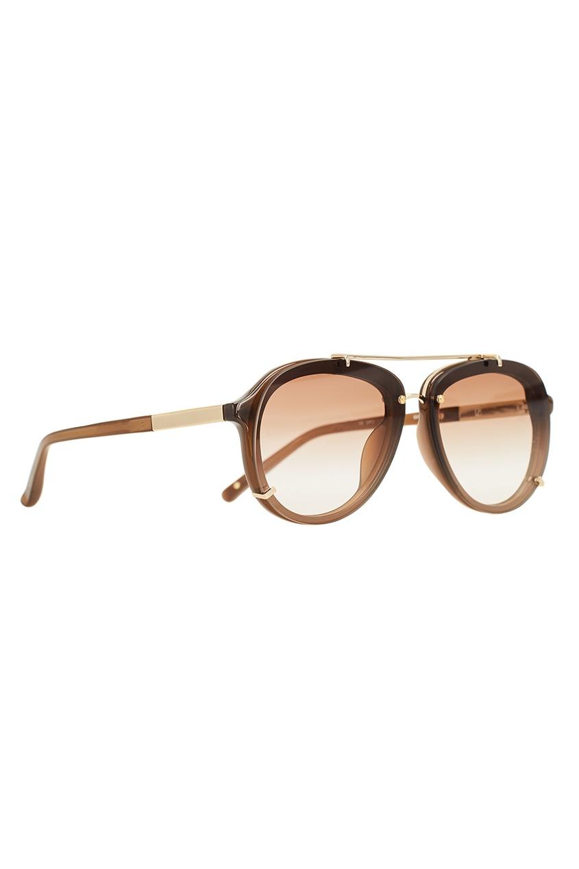 Коричневые солнцезащитные очки Linda Farrow x Phillip Lim