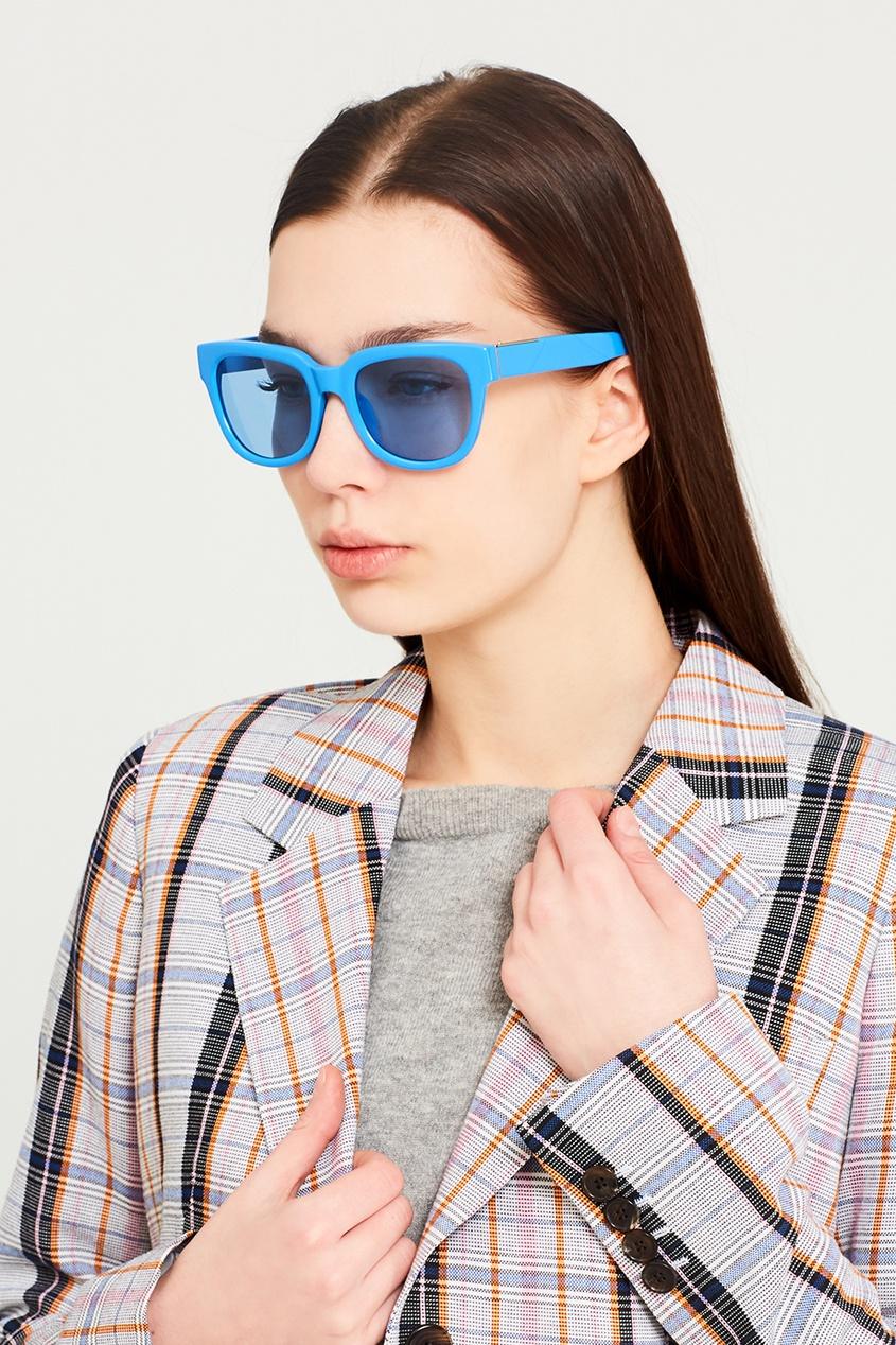 Linda Farrow Голубые солнцезащитные очки Linda Farrow x Phillip Lim диван фокус л заказ 1000х500мм орех 317 linda beige