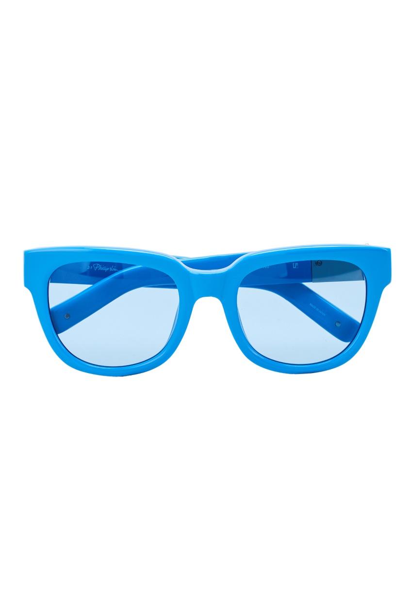 Linda Farrow Голубые солнцезащитные очки Linda Farrow x Phillip Lim linda farrow черепаховые солнцезащитные очки linda farrow x phillip lim