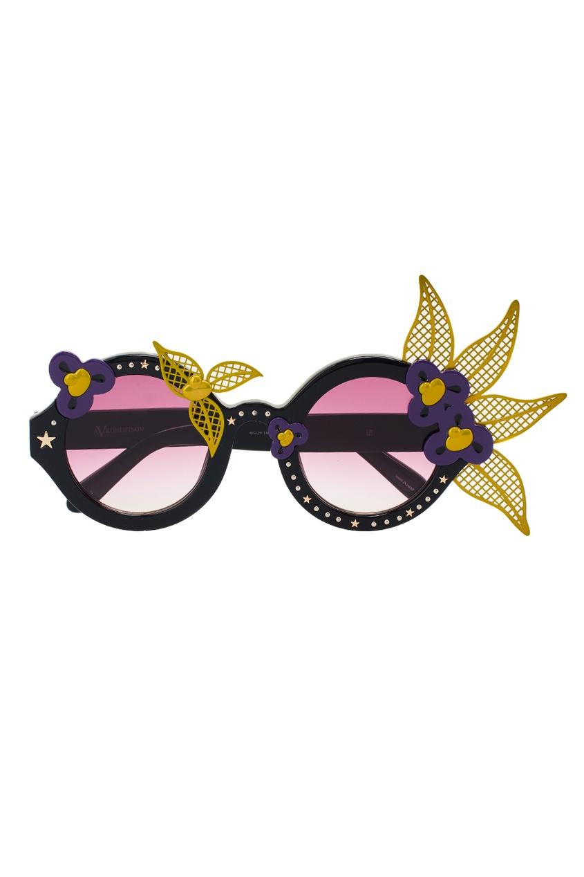 Linda Farrow Декорированные очки Linda Farrow x Avrobertson linda farrow черепаховые солнцезащитные очки linda farrow x phillip lim