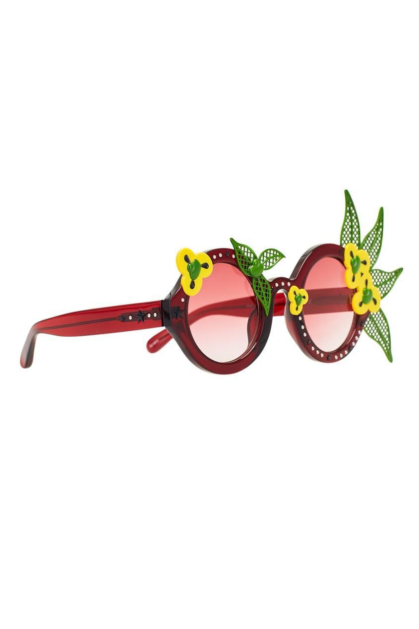 Бордовые очки Linda Farrow x Avrobertson
