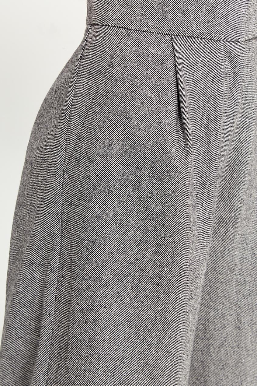T-Skirt Серые широкие брюки elizabeth and james широкие брюки