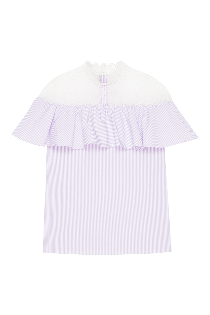 T-Skirt Фиолетовая блузка с кружевом