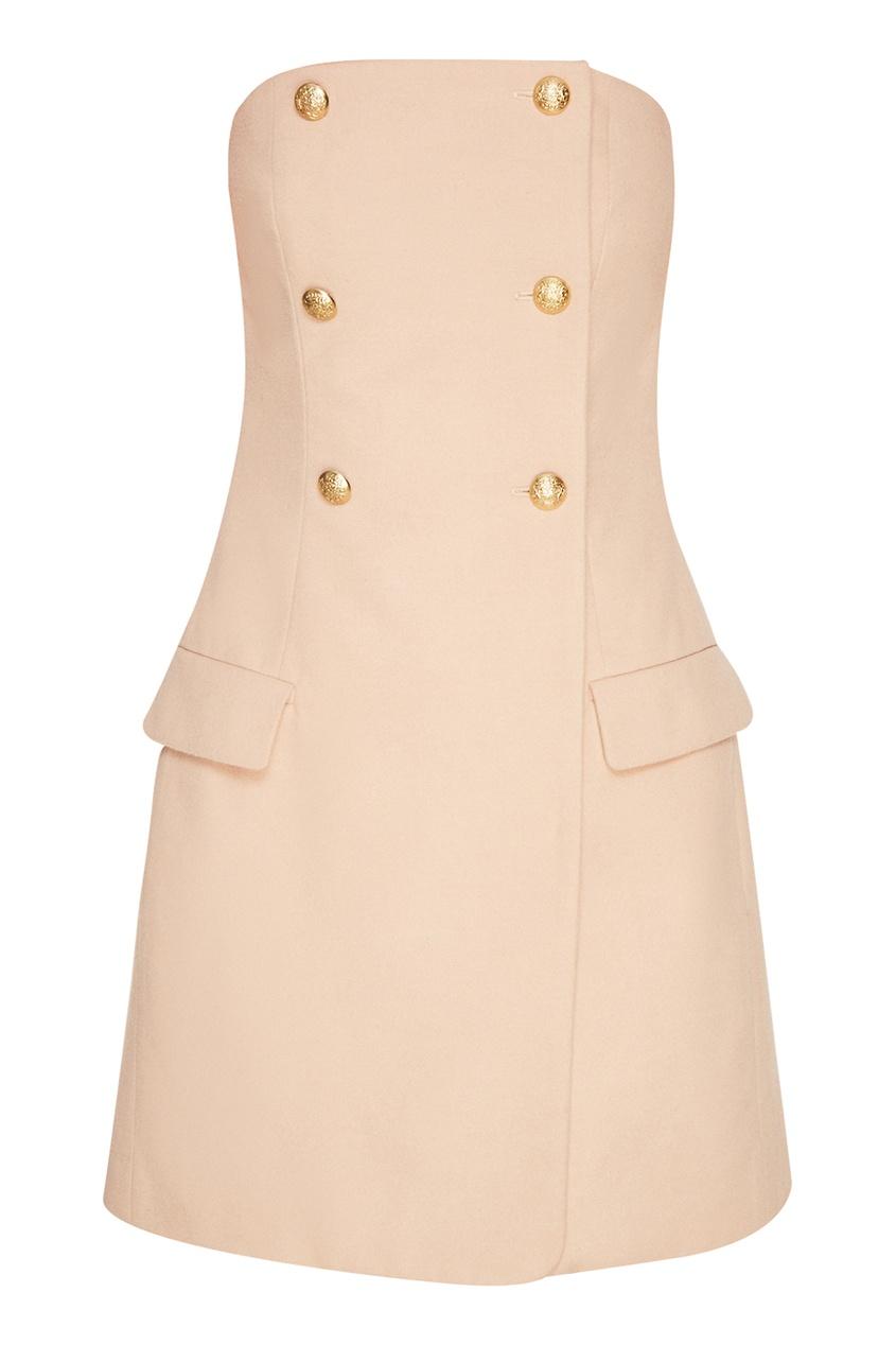 T-Skirt Бежевое платье с открытыми плечами skirt junona skirt