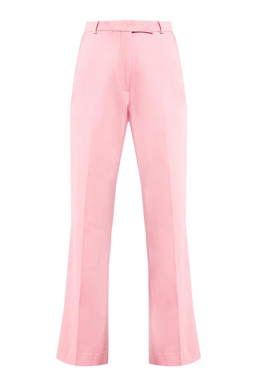 Etro Короткие розовые брюки etro шелковые брюки