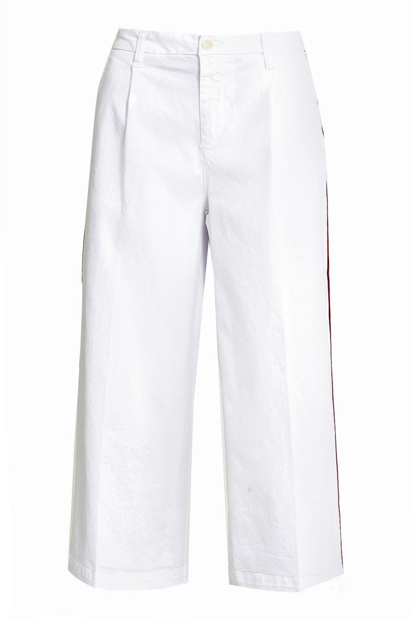 P.A.R.O.S.H. Широкие брюки с лампасами прямые широкие женские зимние брюки