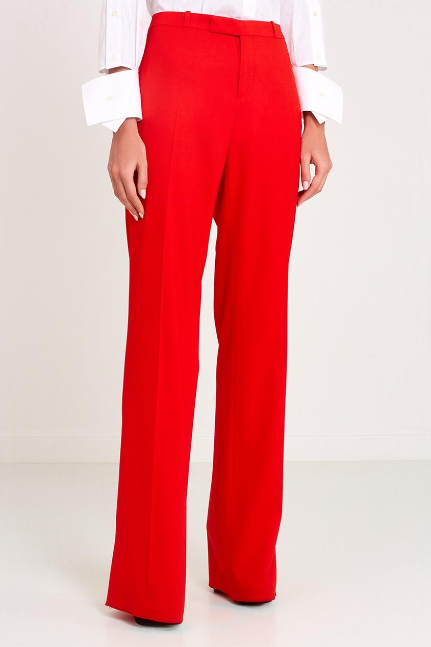 Классические красные брюки