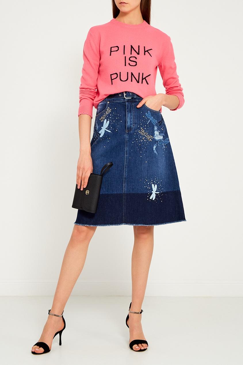 Розовый джемпер с надписью