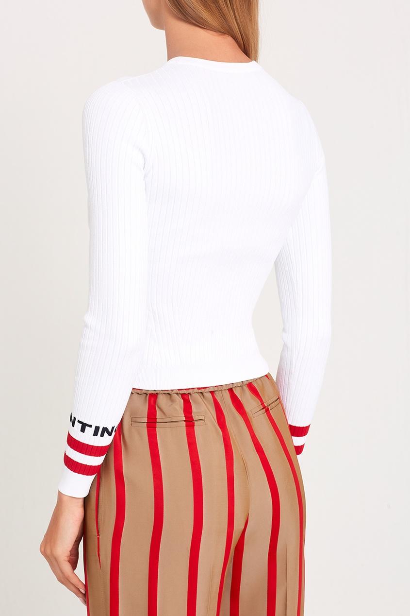 Джемпер с цветными полосками