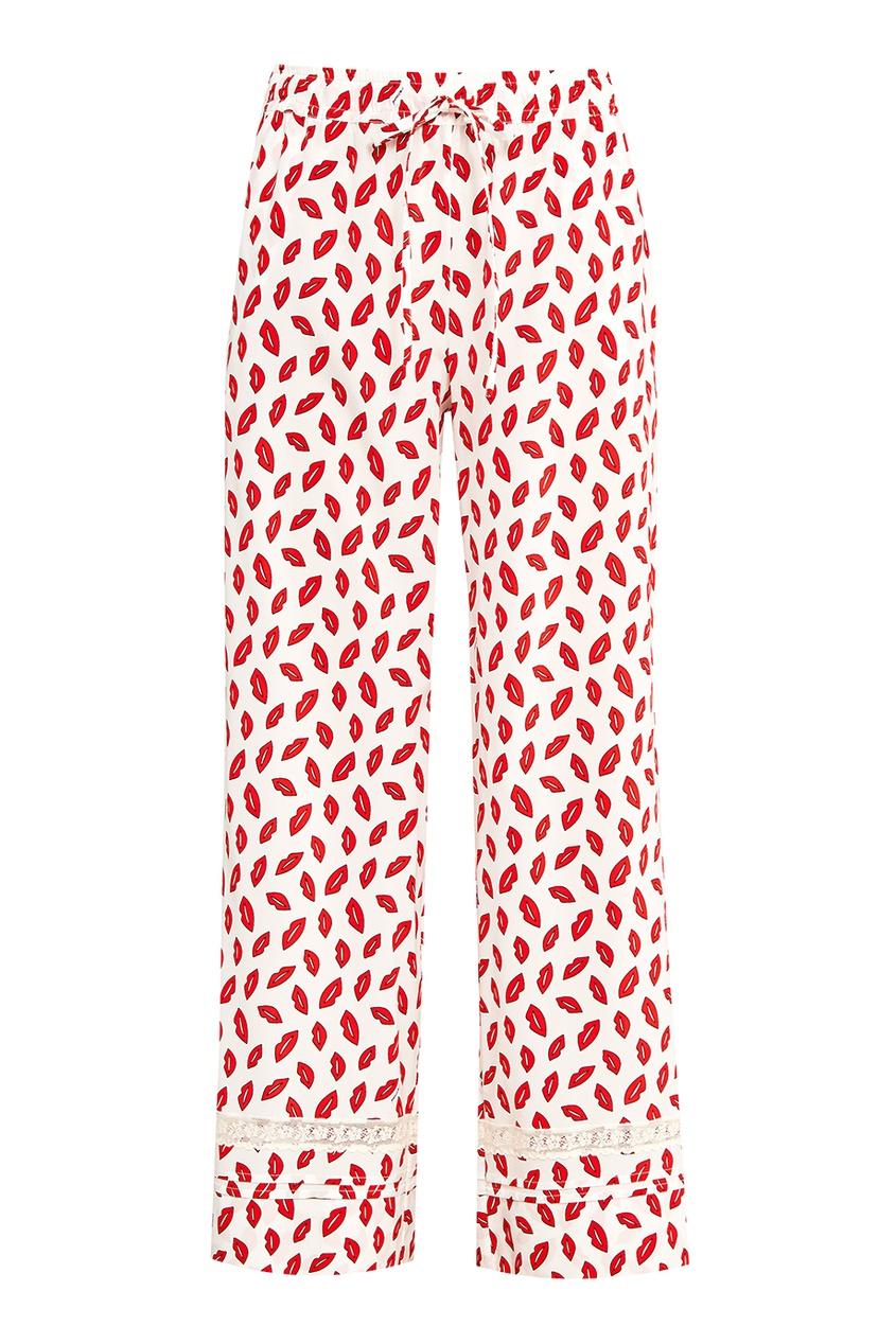 Расклешенные брюки с принтом