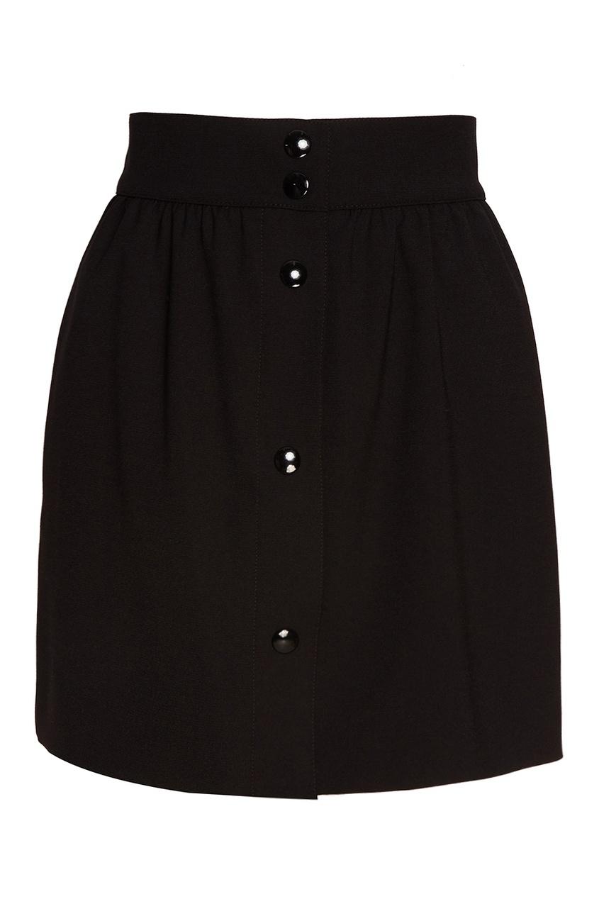 Короткая юбка с пуговицами