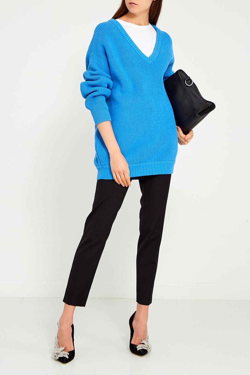 Balenciaga Фактурный голубой пуловер balenciaga шерстяной пуловер