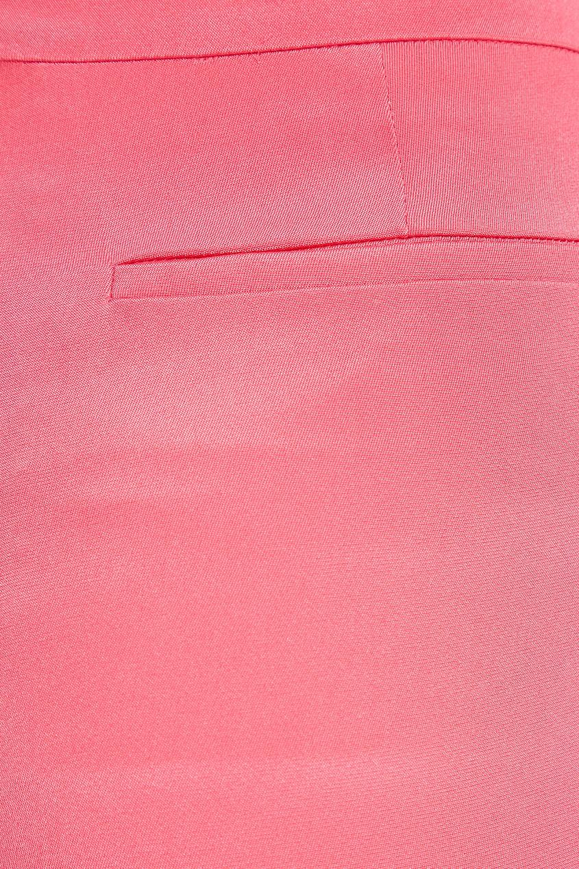 Valentino Розовые шелковые брюки прямые широкие женские зимние брюки