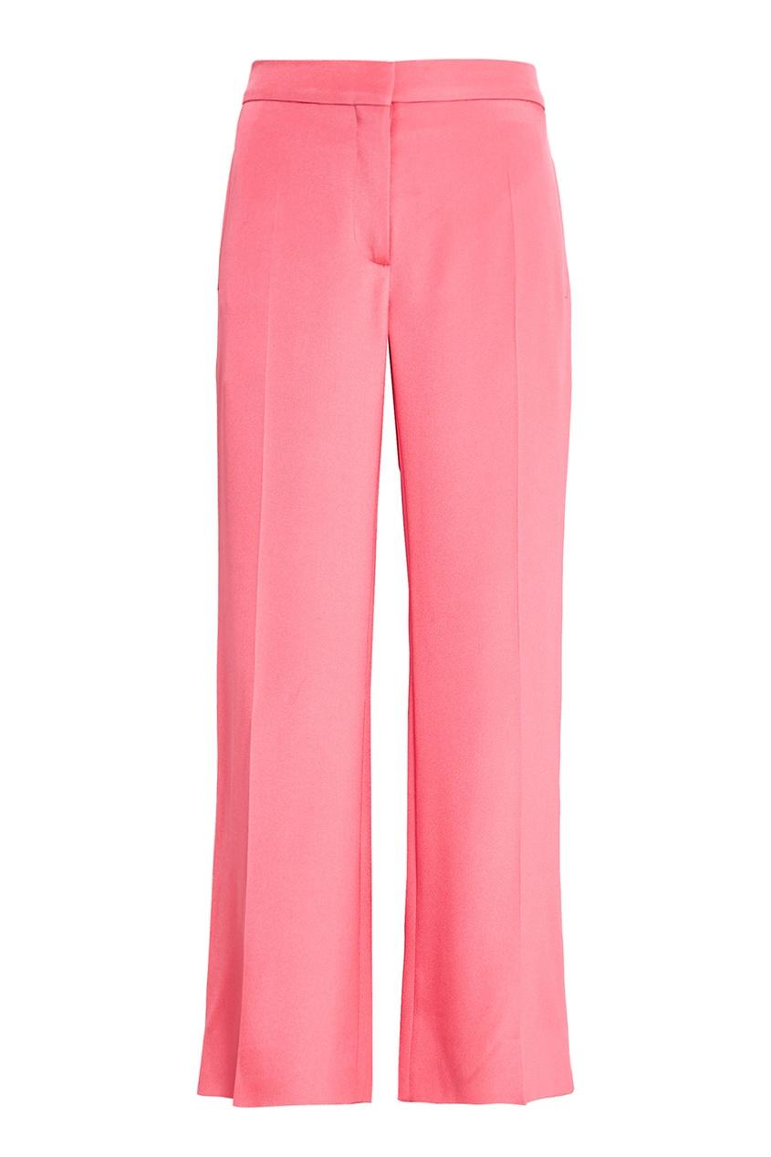 Valentino Розовые шелковые брюки брюки укороченные широкие phil
