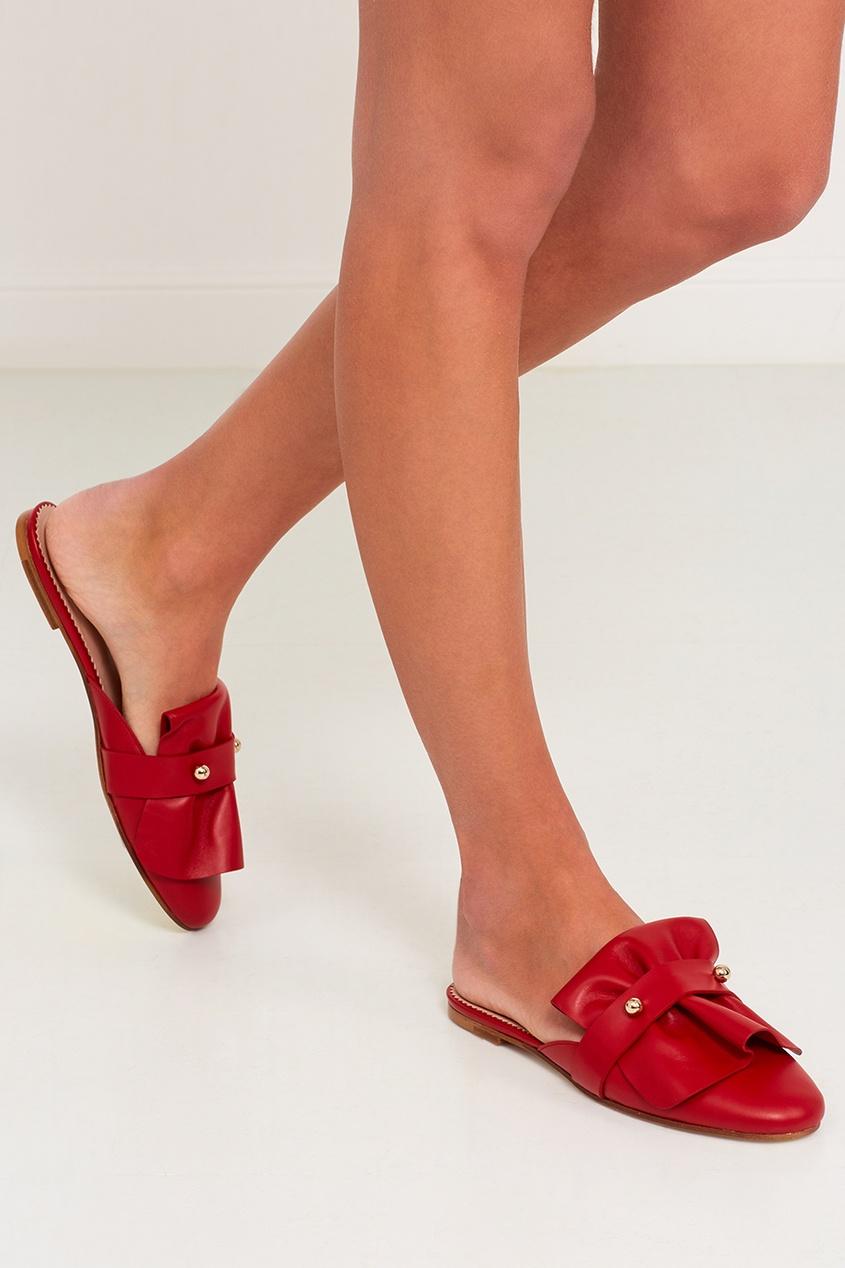 все цены на Red Valentino Кожаные мюли с объемной отделкой онлайн
