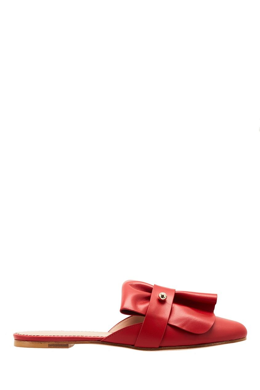 Red Valentino Кожаные мюли с объемной отделкой
