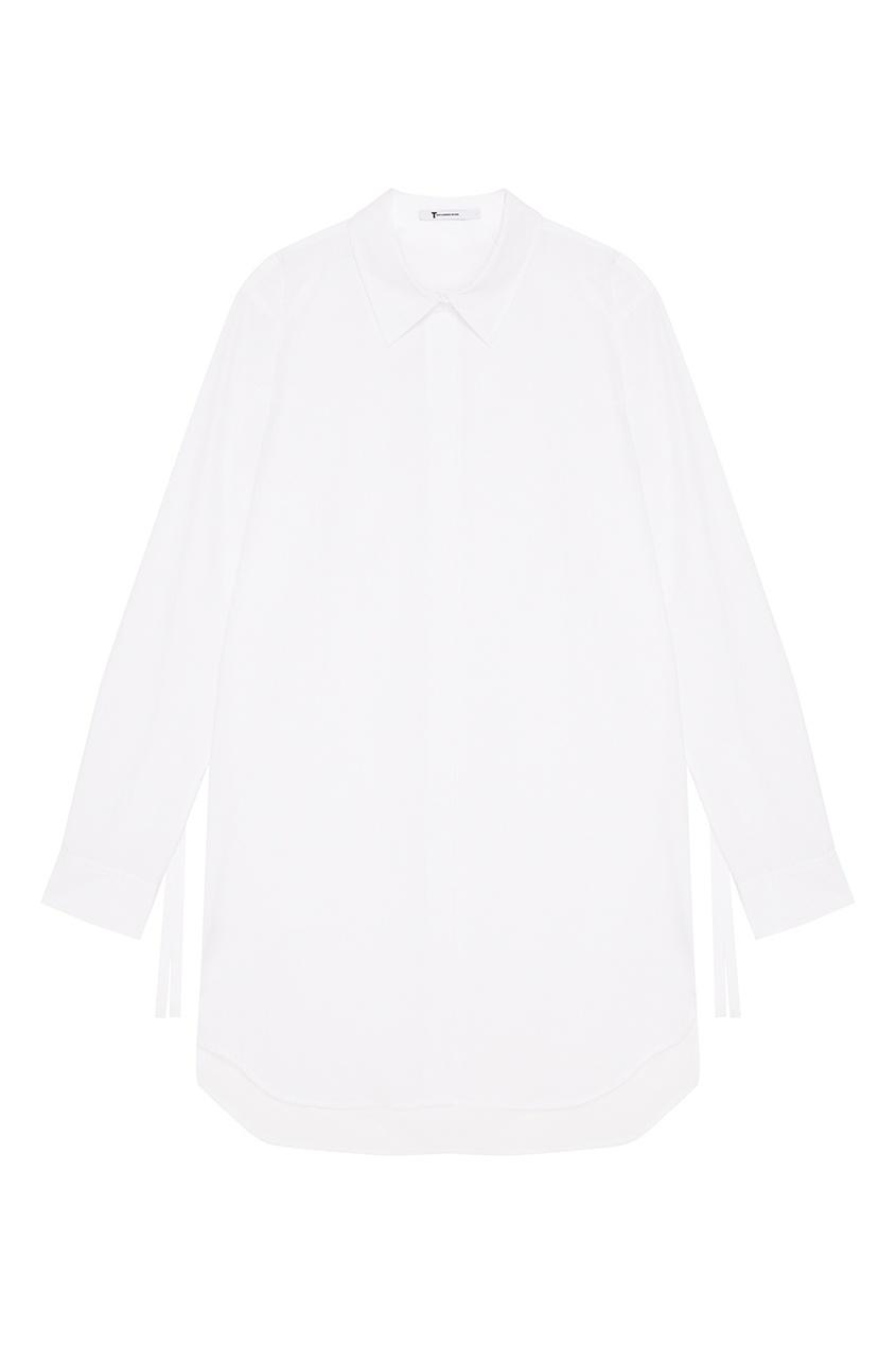 Alexander Wang Удлиненная белая рубашка thl черная рубашка с отложной планкой