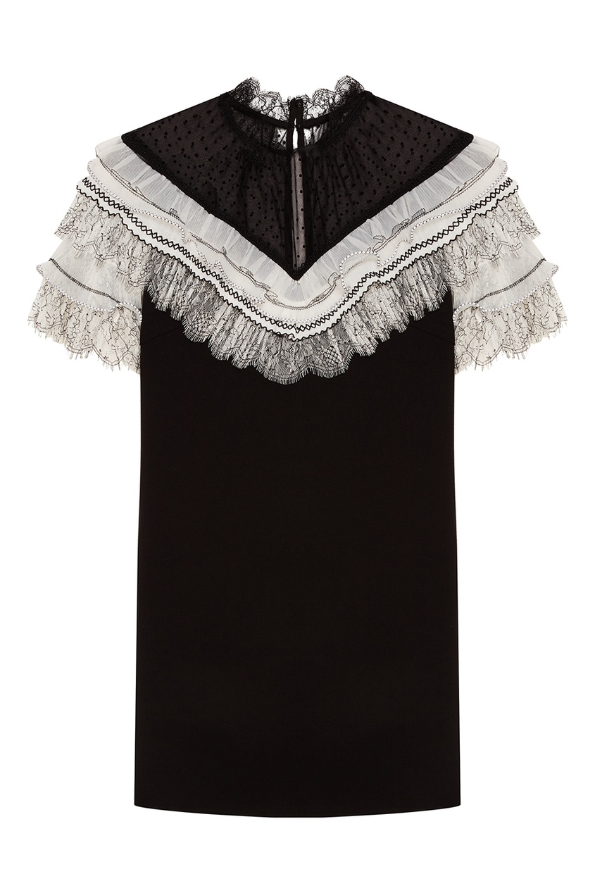 Черное платье-мини